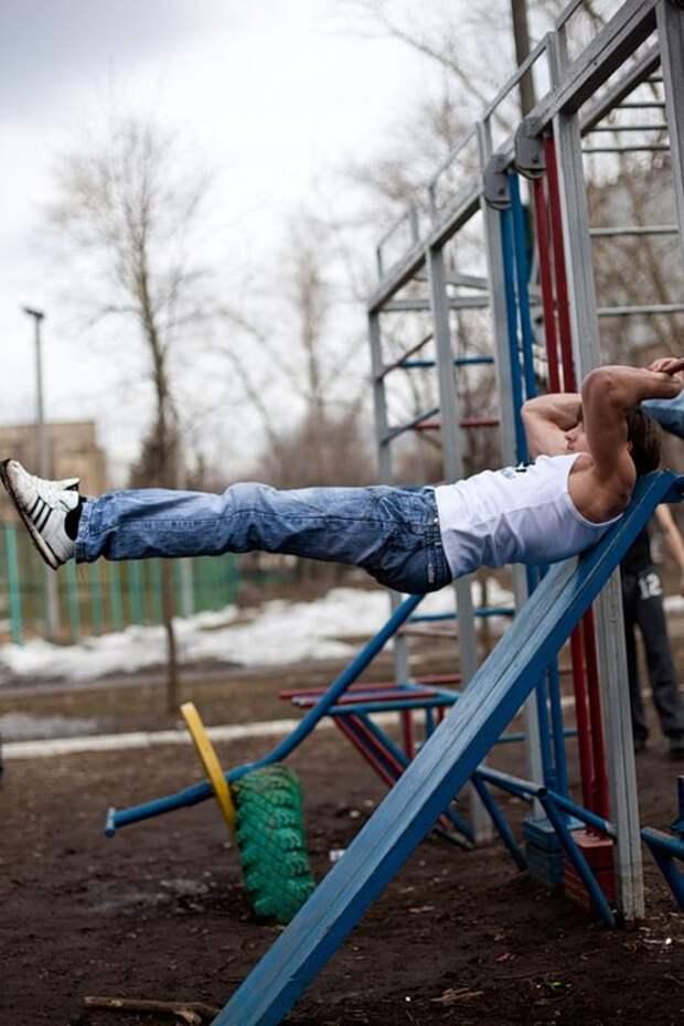 Движение Ghetto workout - уличные качки (29 фото)