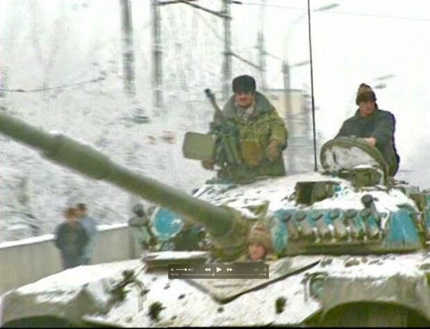 Впечатляющие кадры Первой чеченской войны