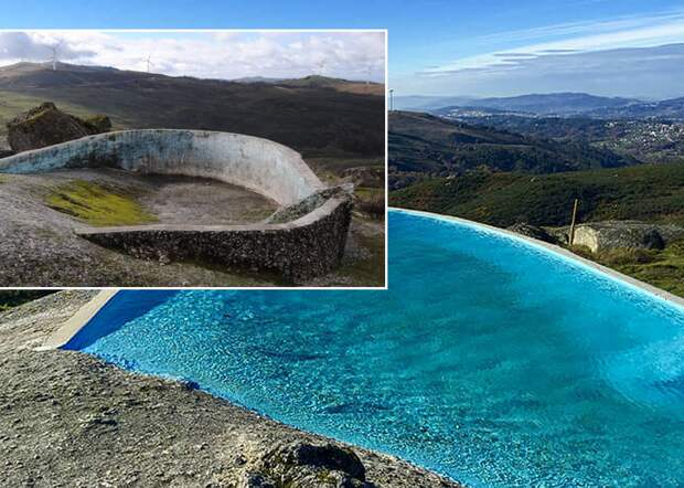 Вот так выглядит бассейн возле Casa do Penedo
