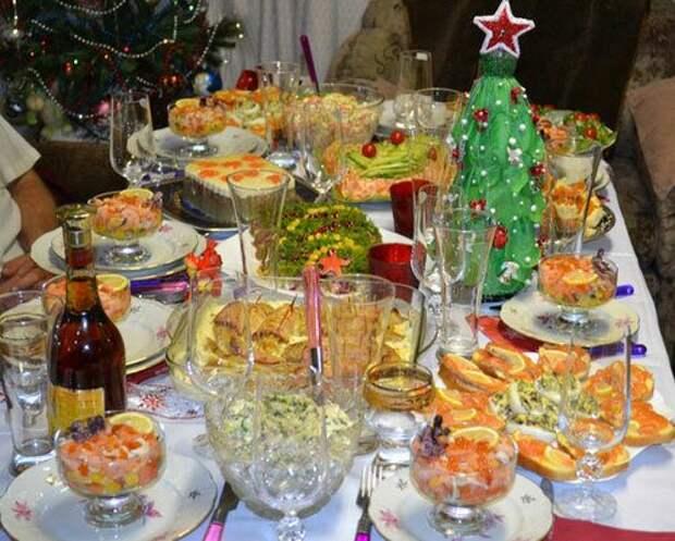 Новогодний стол в СССР. Вы до сих пор верите, что мы тогда плохо жили?