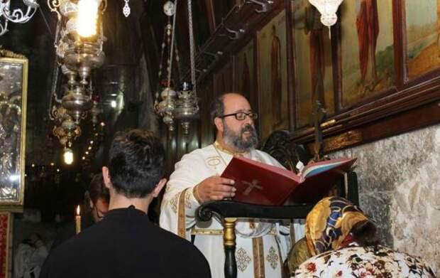 Молебен в Иерусалиме