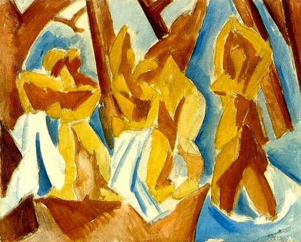"""Пабло Пикассо — """"Пять женщин (Купальщицы в лесу)"""", 1908 год"""