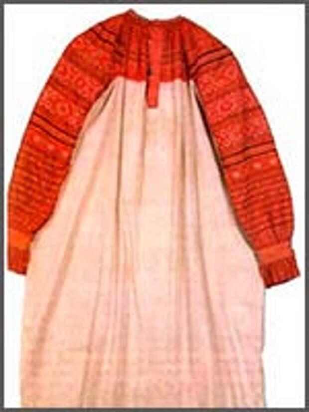 Праздничная женская рубаха. 19 век. Юхнов уезд, Смоленская губерния