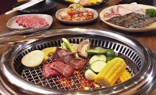 Якинику (Япония) в мире, еда, шашлык