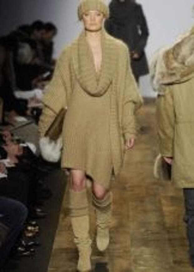 Платье с рукавом летучая мышь вязаное