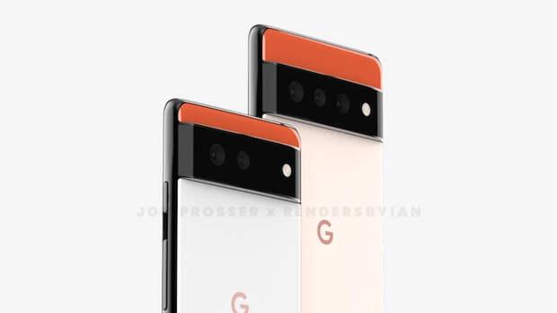 Грядущий флагман Google Pixel 6 показался на рендерах в совершенно новом дизайне