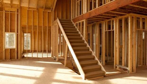 деревянная межэтажная лестница