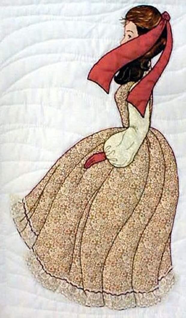 Барышни из лоскутов ткани.