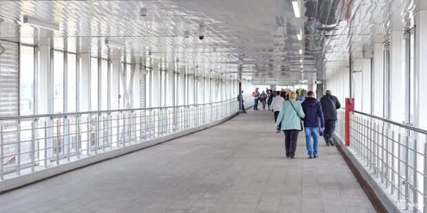 В районе Аэропорт построят пешеходный переход через ж/д пути МЦД-2 на улице Черняховского