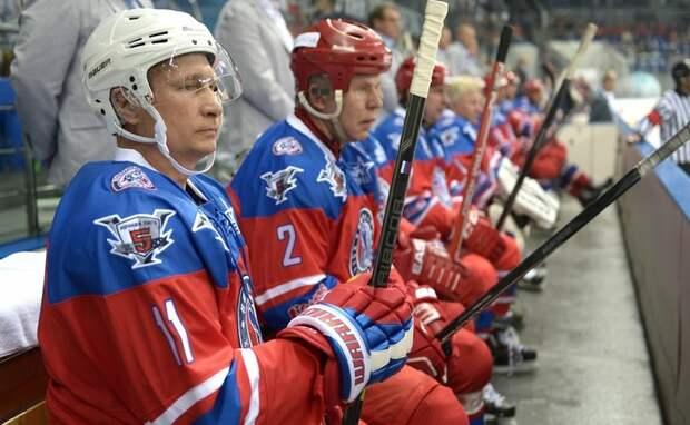 Фурор Владимира Путина на льду. Команда президента выиграла матч Ночной хоккейной лиги