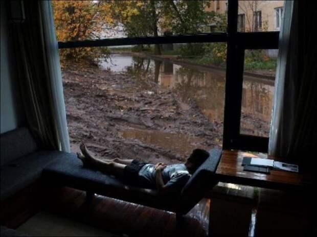 Отчего в России панорамные окна как-то не в моде окна, панорама, прикол, россия, фото, юмор