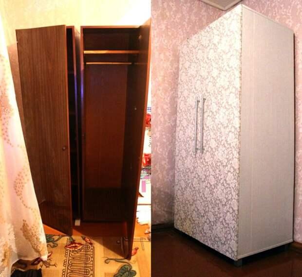 20. Замаскировали под обои было стало, красиво, новая жизнь старых вещей, реставраторы, советская мебель