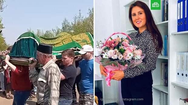 В Казани хоронят погибшую при спасении ребенка учительницу