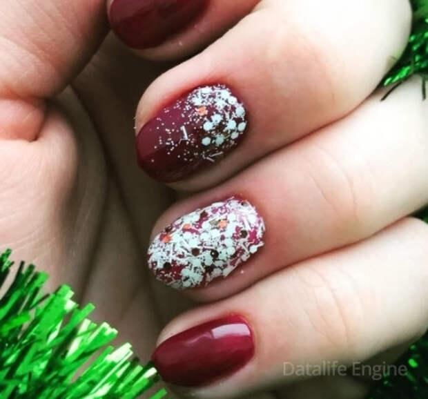 Маникюр на Новый год 2022 на короткие ногти: фото, гель лак, самый красивый дизайн