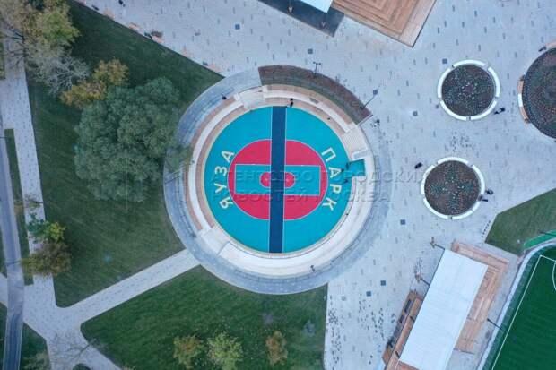 Ход благоустройства парка «Яуза» можно посмотреть благодаря квадрокоптеру