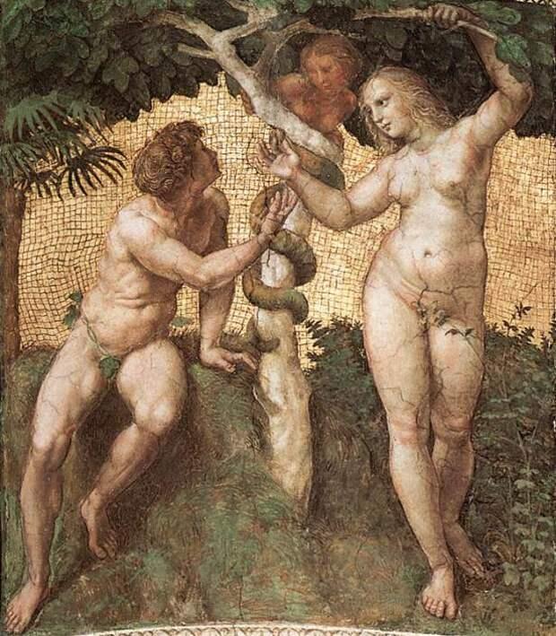Рафаэль. Адам и Ева