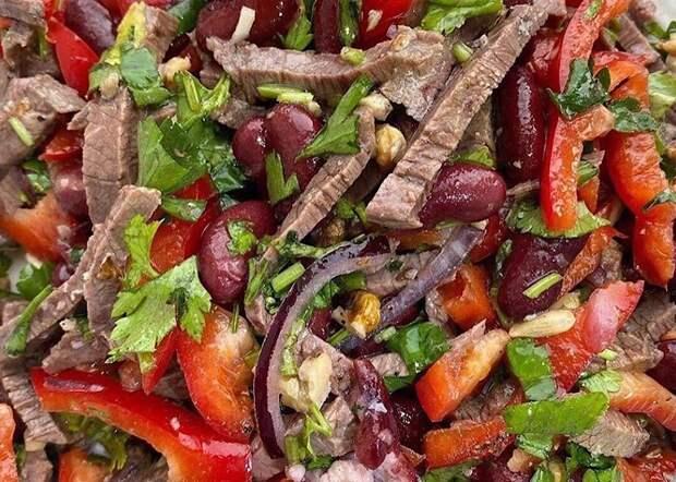 Мега вкусный салат «Тбилиси»