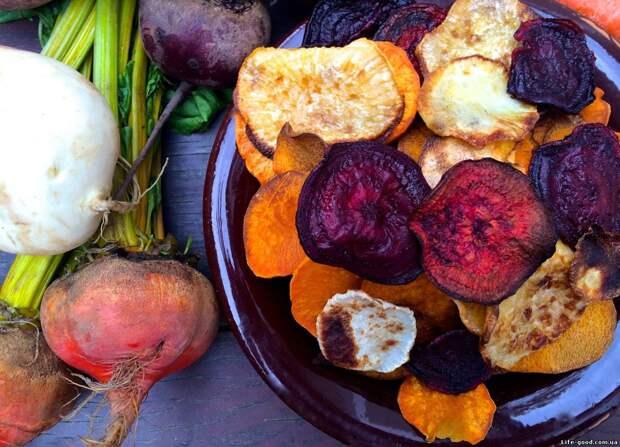 Супер-полезные чипсы из овощей