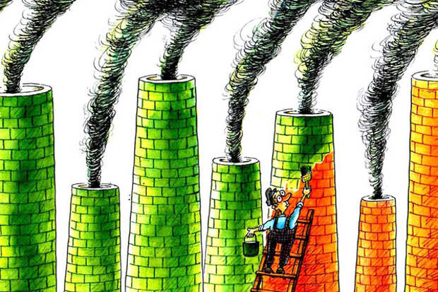 Нефтегаз, чтобы снизить выбросы CO2, использует greenwashing