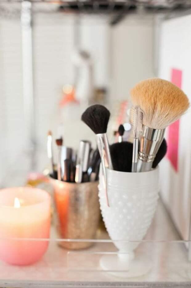 22 креативных способа хранения декоративной косметики