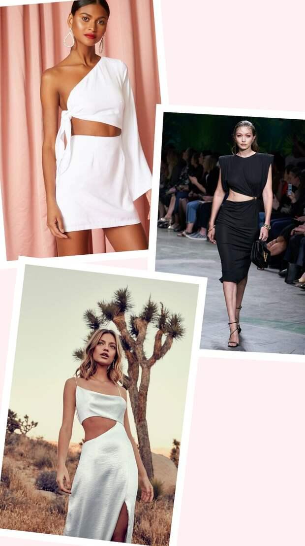 Ассиметричный разрезы на одежде- один из микро-трендов теплого сезона