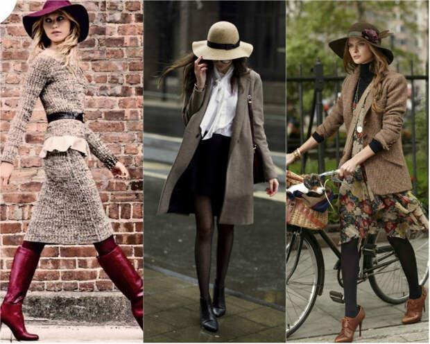 Выбор шляпы к одежде: женственные элементы