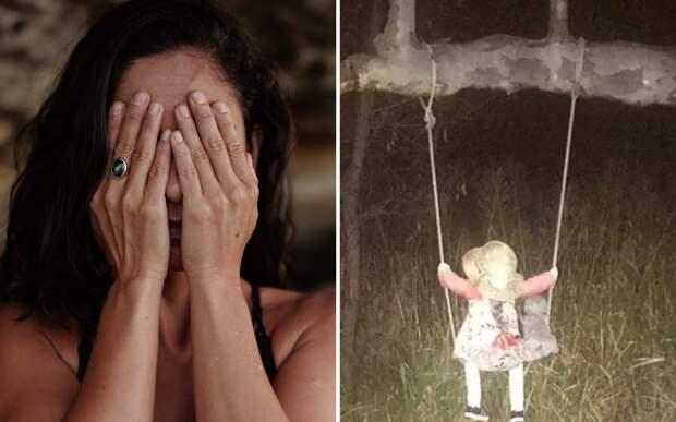 Горожане перестали ходить мимо болот: там сидит на качелях жуткая кукла