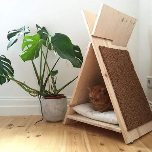 замок шалаш для кота