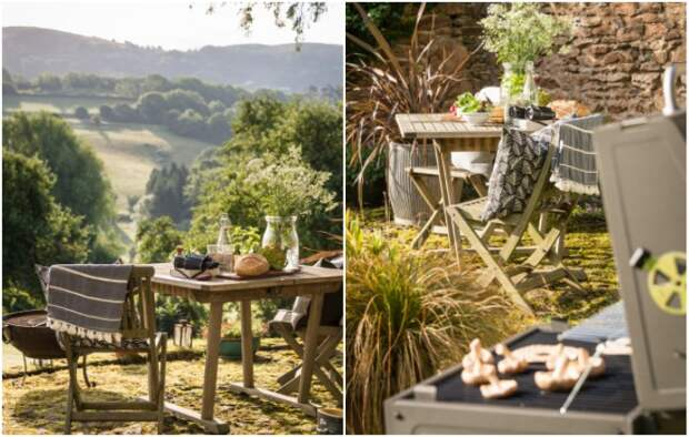 Для организации романтического ужина или сытного обеда на свежем воздухе созданы все условия («Wishbone Cottage»).   Фото: uniquehomestays.com.