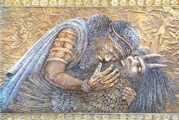 картинка из интернета. Гильгамеш оплакивает друга Энкиду.