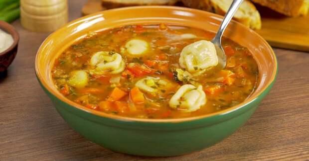 Суп с пельменями по-узбекски