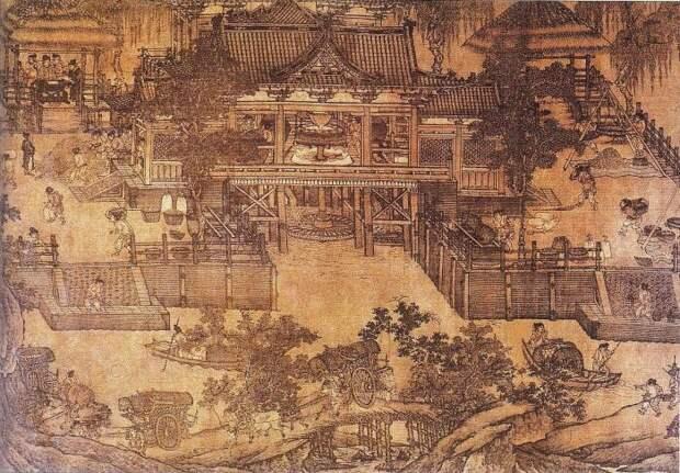Водяное колесо облегчило работу в древнем Китае. \ Фото: chegg.com.