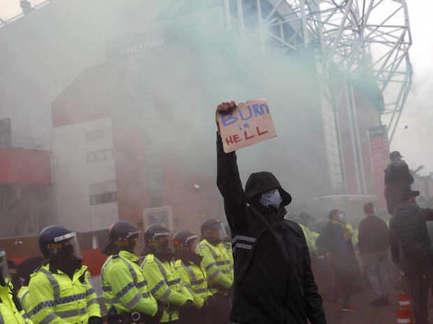 Фанаты снова пытались сорвать матч «Манчестер Юнайтед», но Глейзеры превратили «Олд Траффорд» в тюрьму