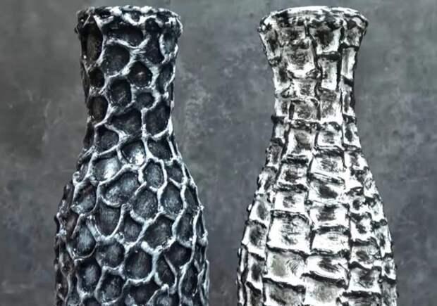 Запоминающийся декор из обычной бутылки