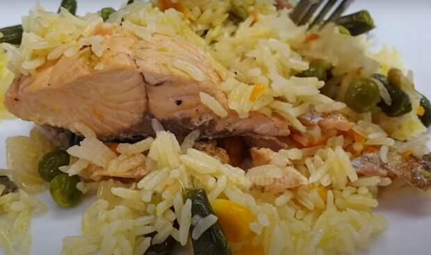 Вкуснейшая рисовая каша с овощами и горбушей