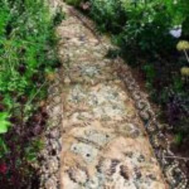 как сделать садовую дорожку с мозаикой самому