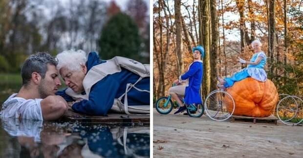 Веселые бабушка и внук стали звездами интернета