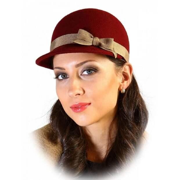 Фетровая шляпка-бейсболка