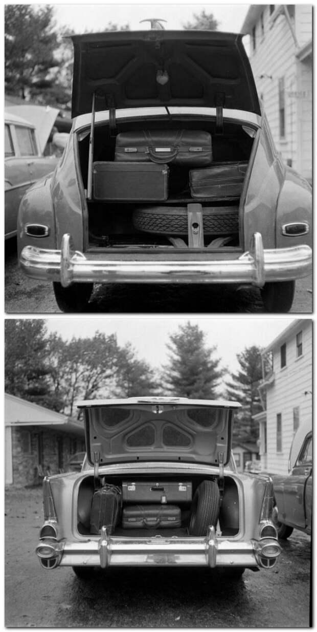 Сравнение вместимости багажника. СССР, авто, история
