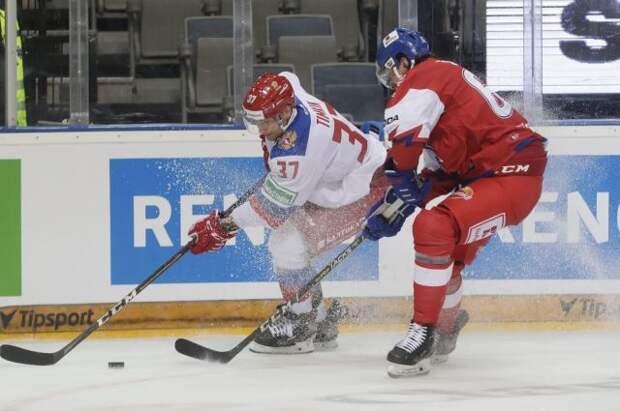 Россияне уступили чехам в матче заключительного этапа хоккейного Евротура
