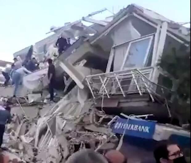Сильное землетрясение в Средиземноморье затронуло Турцию и Грецию