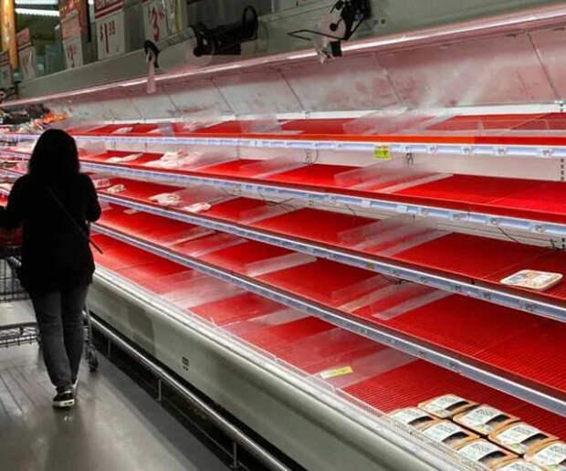 Дефицит продуктов питания - продуктовые магазины США готовятся к кризису