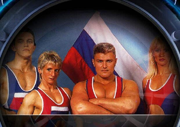 Гладиаторы России в Англии - С.Рубан,  крайний слева. фото: картинки яндекса.