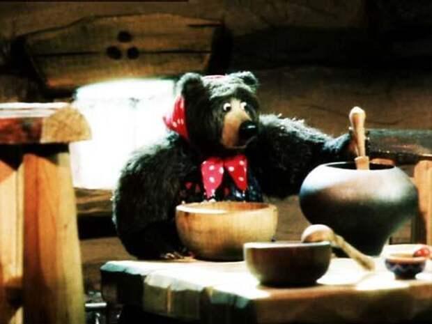 Кадр из мультфильма «Три медведя», 1984 год