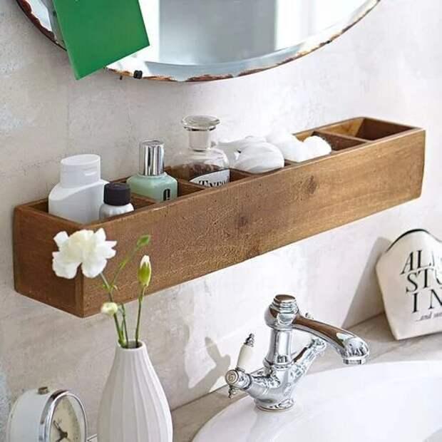 19 удобных идей хранения вещей в маленькой ванной