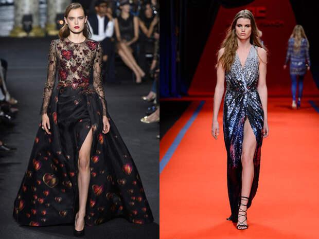 Новогодние платья 2017 с разрезом
