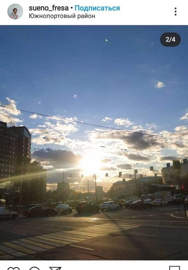 Фото дня: пробка в лучах солнца