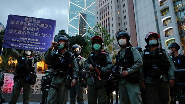 СМИ: полиция Гонконга применила перечный газ для разгона демонстрантов
