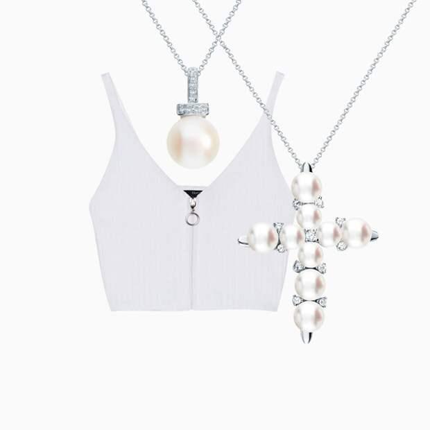 Белый цвет + украшения из жемчуга – идеальное решение на лето