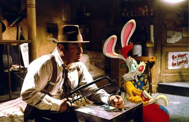 Кадр  из фильма «Кто подставил  кролика Роджера?» (1988)